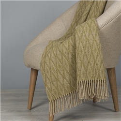 Magee 1866 Camel & Khaki Green Wigwam Throw