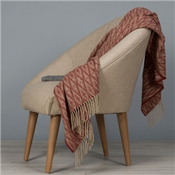 Magee 1866 Camel & Dark Red Wigwam Throw