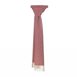 Magee 1866 Herringbone Scarf in Red