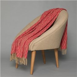 Magee 1866 Camel & Red Wigwam Throw