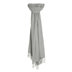 Magee 1866 Glen Check Pashmina in Light Grey