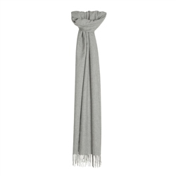 Glen Check Wide Scarf in Light Grey