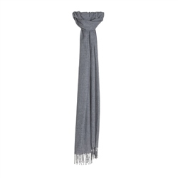 Magee 1866 Glen Check Wide Scarf in Navy