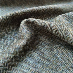 Magee 1866 Rockall - Green and Brown Herringbone Donegal Tweed