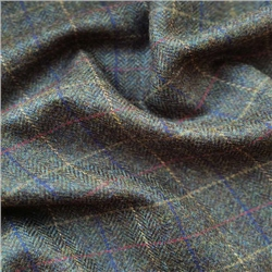 Magee 1866 Rockall - Green Herringbone & Check Donegal Tweed