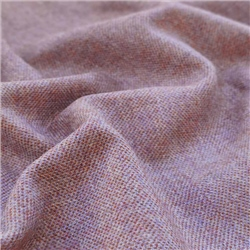 Magee 1866 Interiors Limited Edition - Purple and Orange Herringbone Donegal Tweed