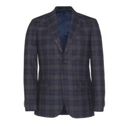Clady Jacket in Navy Check