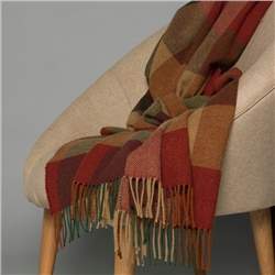 Magee 1866 Red Country Patchwork Throw