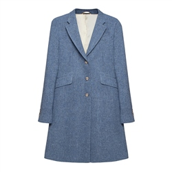 Magee 1866 Grace Donegal Tweed Coat in Blue Salt & Pepper