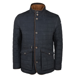 Glenveigh Quilted Jacket in Navy