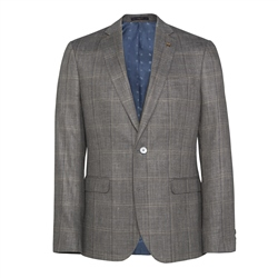 Magee 1866 Finn Silk Blend Jacket in Grey Check