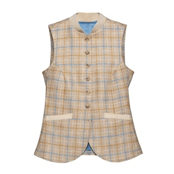 Magee 1866 Georgie Donegal Tweed Waistcoat in Oat Check