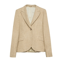 Magee 1866 Lily Donegal Tweed Jacket in Oat Salt & Pepper