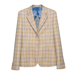 Milly Donegal Tweed Jacket in Oat Check