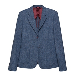 Magee 1866 Milly Donegal Tweed Jacket in Blue Salt & Pepper