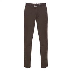 Magee 1866 Dungloe Washed Cotton Chino in Dark Brown