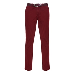 Magee 1866 Dungloe Washed Cotton Chino in Red