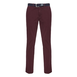 Magee 1866 Dungloe Washed Cotton Chino in Maroon