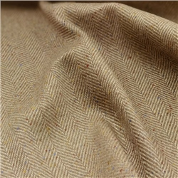 Magee 1866 Limited Edition - Linen Blend Beige Herringbone Donegal Tweed