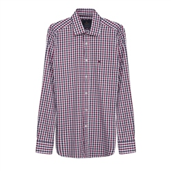 Magee 1866 Tullagh Gingham Shirt in Red Check