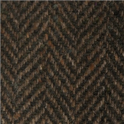 Magee Clothing Bottle Green and Earthy Brown Herringbone Donegal Tweed