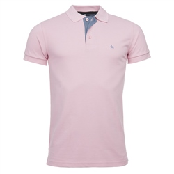 Magee 1866 Pale Pink Cotton Polo Shirt
