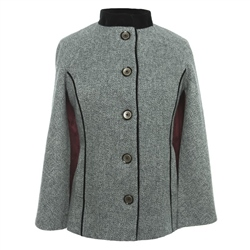 Magee Clothing Grey Donegal Tweed Cape