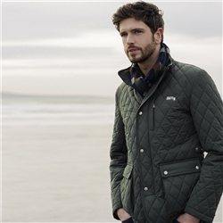 Magee Clothing Green Diamond Quilted Coat