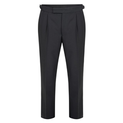 Magee 1866 Black Single Pleat Dinner Suit Trouser