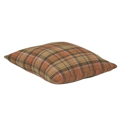 "Magee Clothing 18"" Two Tone Pastel & Camel Cushion"