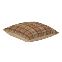 "Magee Clothing 18"" Pastel Check Tweed Cushion"