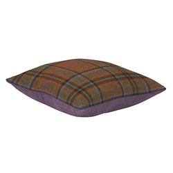 "Magee Clothing 18"" Green Herringbone Check Tweed Cushion"
