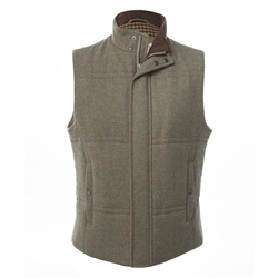 Magee Clothing Green Tweed Padded Gilet