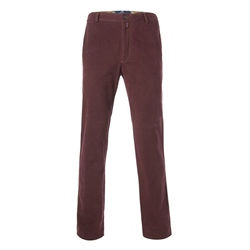 Magee Clothing Burgundy Cotton Twill Tailored Fit Chino
