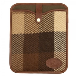 Magee Clothing Brown Patchwork Tweed iPad Sleeve