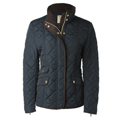 Magee Clothing Navy Diamond Quilted Coat.