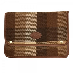 "Magee 1866 Brown Patchwork 13"" Tweed Laptop Sleeve"