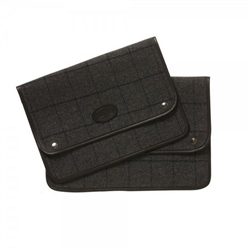 "Magee Clothing Grey and Navy Tweed 15"" Laptop Sleeve"