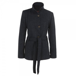 Magee Clothing Navy Wool Coat with Belt