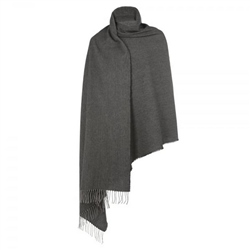 Magee 1866 Light Grey & Charcoal Large Pashmina