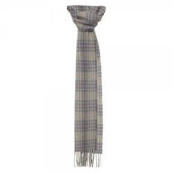 Magee Clothing Camel, Grey, Blue and Pink Luxury Plaid Scarf