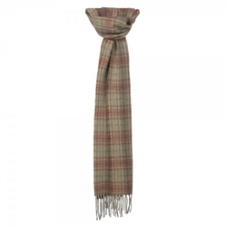 Magee Clothing Camel, Ochre, Red and Lovat Luxury Plaid Scarf
