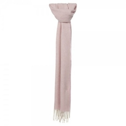 Magee Clothing Pink and Cream Herringbone Luxury Scarf