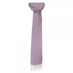 Magee Clothing Heather Purple and Cream Herringbone Luxury Scarf