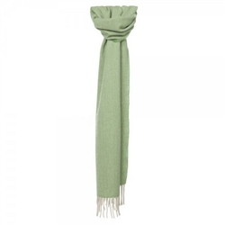 Magee 1866 Apple Green & Cream Luxury Herringbone Scarf
