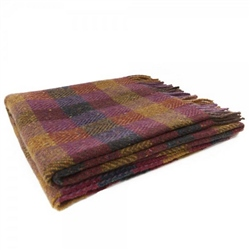 Magee Clothing Oak - Small Red, Yellow, Grey & Pink Gingham Throw