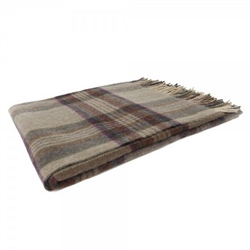 Willow - Large Green, Red, Purple & Rust Plaid Throw