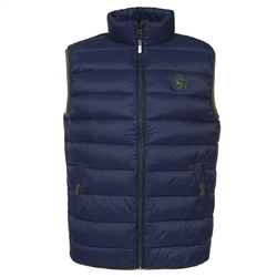 Magee 1866 Mario Navy and Green Quilted Gilet