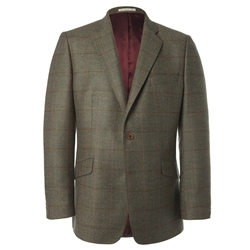 Magee Clothing Lightweight Wool Green Check Blazer