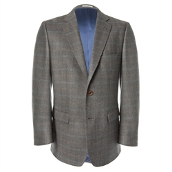 Magee Clothing Brown Check Lightweight Wool Jacket